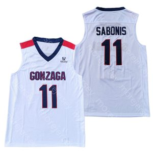 2020 New Gonzaga Bulldogs College Basketball Jersey NCAA 11 Sabonis White All Stitched and Embroidery Men Youth Size
