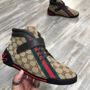 2020 alta sneaker com encravamento G e coração Designers Sneaker moda de luxo das sapatilhas dos homens unisex casuais sapatos com caixa Tamanho 38-45