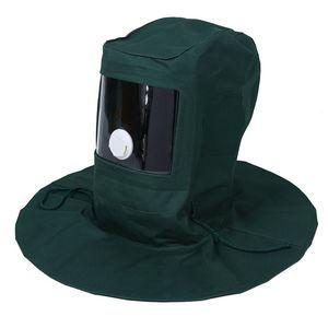 Campana de chorro de arena Abrasivo Sandblaster Mascara Cap Wind Dust Anti Protective Tool