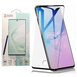 Tam Tutkal Tam Kapsama Temperli Cam Ekran Koruyucu Ile Samsung S21 Ultra Not 20 S20 Not 10 S10 Artı S10E + Perakende Paketi