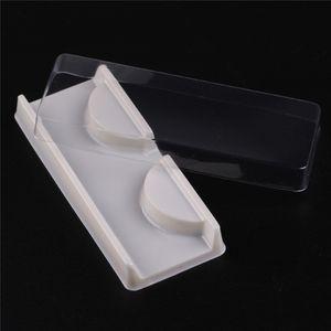 Transparent Weiß Rosa Kunststoff Wimpern Verpackung Box Gefälschte Wimpern Fach Lagerung Abdeckung Einzelfall Transparent Deckel Klar Fach