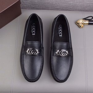 Brand Handmade Men Genuine leather driving Shoes Lace-Up Wear Comfortable Men Dress Wedding Shoes Prom Business leather shoes 7-106