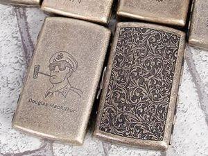 DHL Metal cigarette case Holder 12 Cigarettes Portable engraving Vintage copper cigarette case nd storage box Accessories 91*52*29mm