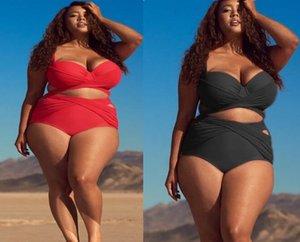 ارتفاع كبير العليا فتاة السيدات المرأة زائد مخصر الدهون شريط الطباعة من قطعة واحدة بيكيني مجموعات ملابس السباحة مثلث مثير الدهون أنيقة مرونة ملابس السباحة