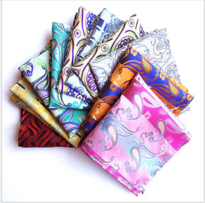 Men's pocket towel Wedding Business men's suit shirt pocket towel polyester silk scarf bra handkerchief