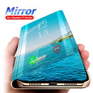 Caixa De Couro espelhado Inteligente Para Huawei P40 Pro Lite e P30 P20 Nova 5t Mate 30Pro 30Lite 20 20Pro Lite P Smart Y6 Prime Y7 Y9 2019 Caso Claro
