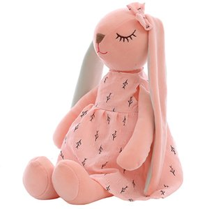 Cute Cartoon Long Ear Bunny Doll Baby Soft Plush Toy Child Bunny Sleeping Companion Stuffed Plush Mollusk Bunny Toy