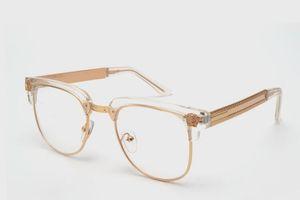 Monocolo delle donne trasparenti classiche lenti trasparenti occhiali degli uomini miopia Spectacle Frames rotonda Eyewear
