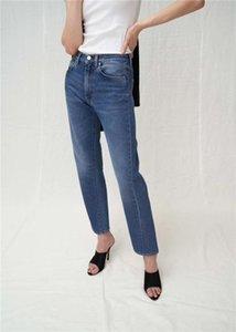Obrix Kadın Casual Demin Jeans Kadınlar İçin Orta Bel Amerikan Avrupa Tarzı Kısaltılmış Jeans