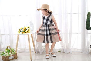 New Baby Girls Dress Square Plaid Dress Print Clothing Toddler Kids Dress For Girl Clothes cotton princess pleated skirt A27