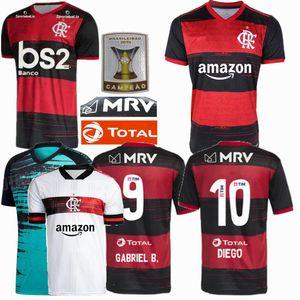 20 21 Flamengo Soccer Jersey 2020 2021 DIEGO maglie calcio Goleiro Flamengo GABRIEL B. maglia da calcio sport uomo donna formazione uniforme 4XL