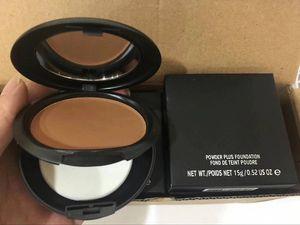 Top seller Face Powder mais a fundação 15g Maquiagem Pó compacto fundação Todos NC NW 22 cores DHL navio livre