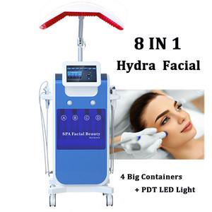 Novo H2-O2 Hydra Dermoabrasão Aqua Peel Cuidados Com A Pele RF Bio-lifting Hidro Oxigênio Facial Jet Spray Machine Spa Uso