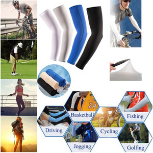 Protection Cooling Warmer Arm Anti-slip Ice Silk Sunscreen Riding Sleeve Golf Sun Cooling Gloves UV Protection for Outdoor Acti