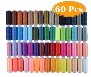 60PCS casa de costura caja de multi-color de la máquina de coser conjunto combinación de hilo es necesario para los viajes familiares
