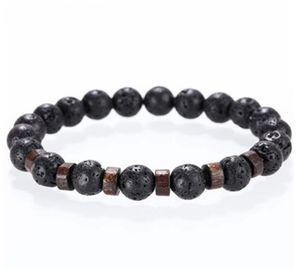 Branelli del braccialetto di pietra di Mcllroy lava naturale homme braccialetti di modo Braccialetto Uomini perline di legno Accessorie Gioielli regalo personalizzato maschile GB856