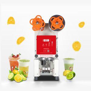 Qihang_top Profesional inteligente Taza automática Máquina de sellado Leche comercial o té Plástico / Papel Sellador Máquina de embalaje