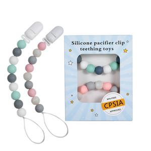 Силиконовые Pacifier клипы Зубные шариков BPA Free Силиконовые пустышки клип соску Держатель младенца Teether Подвеска Soothie Зажимы A8342