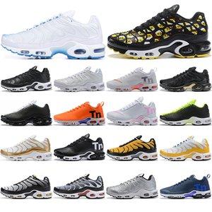 Nike New Airs Caushion Mercurial Plus Tn Ultra SE Negro Blanco Naranja Zapatos Casual Alta calidad Chaussures Mujeres Hombres Maxes Zapatos 36-46