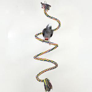 Pet Birds Parrot Toys Cockatoo Parakeet Uccello Swing Budgie Cotton Arrampicata corda Standing Rod per animali domestici che giocano giocattolo