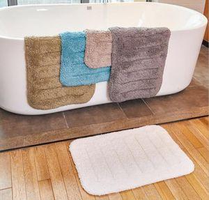 Bath rug reusable hotel supply water absorbent soft microfiber shaggy bathroom bathroom rug for hotel bathroom skid resistance