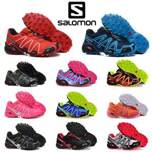 Solamon Speedcross 3 III CS Sport Outdoor Wanderschuhe Frauen Männer beschleunigen Querlaufschuhe Mode blau camo sports Turnschuhe rot