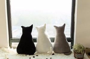 Cojín 1pc 45cm suave de la sombra del gato lindo de peluche juguetes de peluche