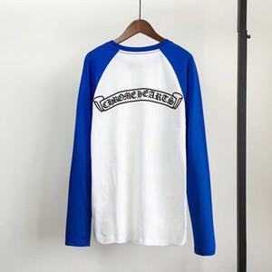 Les nouveaux hommes T-shirt à manches longues et ronde en pur coton T cou Original Design talonnage shirt personnalité Hülf