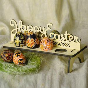 Prateleiras de ovos de Páscoa de madeira para o ornamento do partido de páscoa diy decoração de coelho de coelho ovo stand rack de coelho padrão de decoração para casa