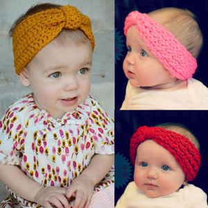 Mode Bbay Kind Blume Haar-Band-Baby Headwrap Kinder Warm Ohren Häkelarbeitknit Stirnband Hairband Headwrap