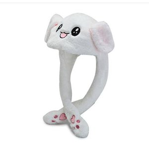 2019 Kids Cute Plush Rabbit Pinching Bunny Ear Hat Can Move Airbag Cap Toy Gift for Kids Girls Girlfriend Women Accessories