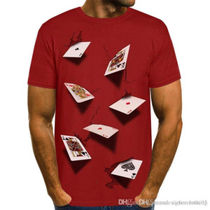 3D Poker Designer Mens T-shirts Summer Fashion Elegante Casual Top Manga Curta Tees