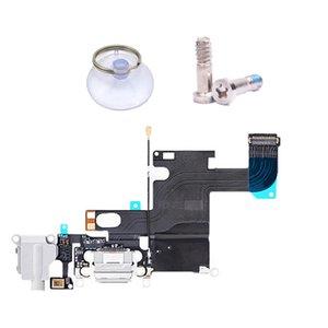 ensamblar / ventosa / tornillo inferior para iPhone 6 Cargador Puerto de carga Muelle Conector USB Cable de datos Auriculares Jack Flex Ribbon