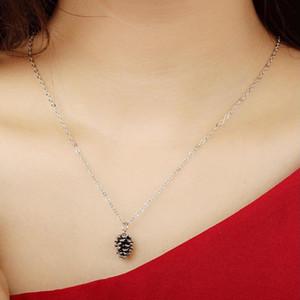 Pine Kegel Anhänger Halskette Gold-Silber-Farbe mit Metallkette überzogen für Frauen Mädchen Geschenk Geschenk