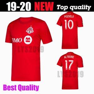 새로운 2019 MLS 토론토 FC 축구 유니폼 19/20 홈 레드 # 17 ALTIDORE # 10 POZUELO 축구 셔츠 Toronto MORROW BRADLEY 축구 유니폼