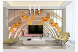 Özelleştirilmiş 3d duvar kağıdı fotoğraf duvar kağıdı dekorasyon Avize Vadi zambak Sanat Çiçek Kristal Cam 3D TV Kanepe Arkaplan Mural