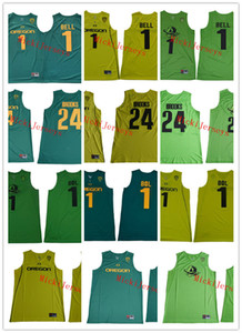 Mens NCAA # 1 Bol Oregon Ducks College Basketball Jersey Blank # 1 Jorda bell # 24 Dillon Brooks Oregon Ducks Kämpfen Jersey S-3 Genähtes