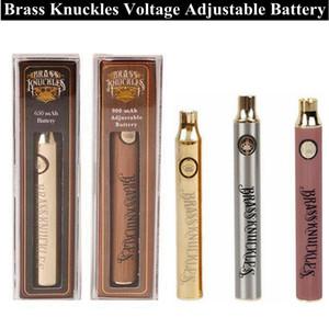 Brass Knuckles 510 нити Vape ручка батарея Разогреть Vv Регулируемого испарителя батареи с 650mAh 900mAh против ил батареи для 510 картриджа
