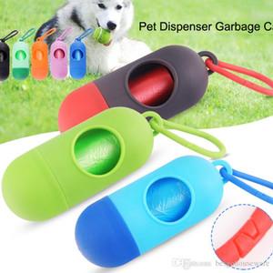 Оптовая Pick Up Puppy Waste Poop Сумки 10.5 * 4 см на открытом воздухе Портативные Мешки для мусора Pet собак с Капсула Shell Собаки мешки для мусора BH0316