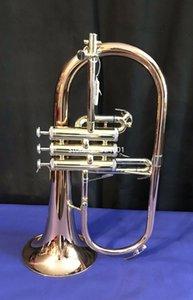 Nueva llegada BB Flugelhorn latón rojo Bell alta calidad instrumentos musicales profesional con caso boquilla envío gratis