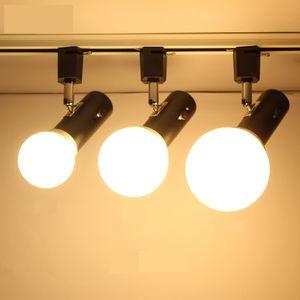 Illuminazione della pista Loft minimalista stile Holder E27 della lampada si illumina di rilevamento luce della pista del LED rettificato Faretti ferroviario per la conservazione Shopping