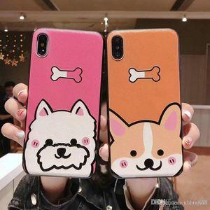 copertura della cassa del telefono mobile cucciolo fumetto per l'iphone XS max Xr X 7 7plus 8 8plus 6 6plus 6S TPU + PC