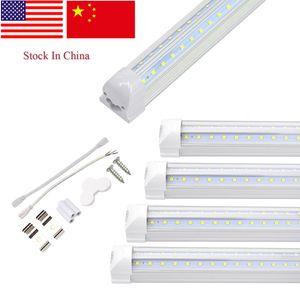 Personalizado especial especificação V forma integrada LED tubos de luz duplos Sides Lâmpadas Loja Luz Refrigerador Porta Luz V luzes do tubo forma 8ft