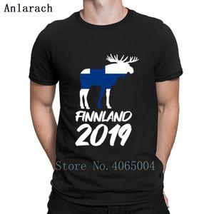 Finnland 2019 Wanderurlaub Elch T Shirt Cotton Homme Fitness O Neck Summer Comfortable Print Cool Shirt