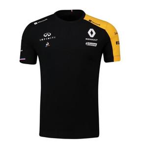 F1 سباق دعوى رينو بأكمام قصيرة تي شيرت سباق مروحة شوماخر طاقم الرقبة التجفيف السريع قميص السباق