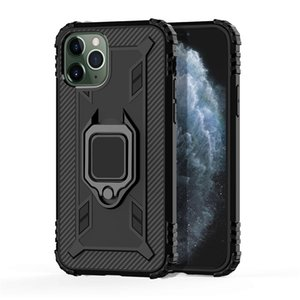 Anello in fibra di carbonio Staffa della cassa del telefono per iPhone Pro 11 XS Max XR 7 8 Samsung S20 Ultra Nota 10 HUAWEI P intelligente