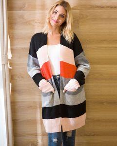 Designer Painéis Womens Sweater Coats Casual Brasão Womens Multi Color Cardigan Sweater Moda manga comprida Camisolas