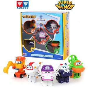 Auldey Noel Hediyelik Kutular 5 cm Mini 18 Eylem 3 Türleri Robot Oyuncaklar Dönüştürme Süper Wings Şekil Kutu Jett Zoey Scoop Astro 06
