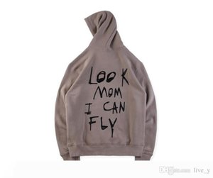 Travis Scott Astroworld Look Mom I Can Designer Hip Hop Hoodies Casual Hooded Sweatshirts Male Printed High Street Pullover