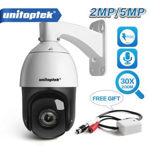 HD 1080p 5MP alta velocidade Dome PTZ Câmera IP POE ao ar livre Áudio 30X Zoom de rede ONVIF 4 polegadas CCTV IR Camera 100m